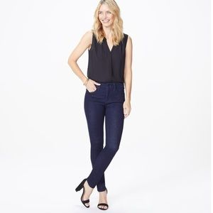 Nydj dark stretch skinny jeans sz 4